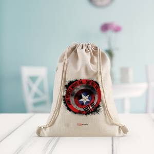 Marvel: Not Us Captain America Shield Drawstring Bag
