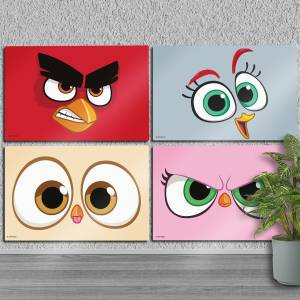 Angry Birds: Bird Face Poster Set x 4 Pure White